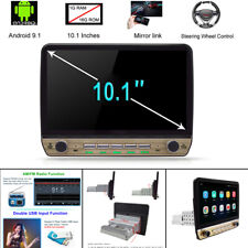 10.1'' 12V Single DIN Android 9.1 Car Stereo MP5 Radio GPS Wifi 1+16GB Universal