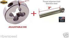 "Lighthouse Tools Mosin Nagant Threading Die M15X1 RH & 3"" Thread alignment tool"
