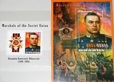 Kinyarwanda ruanda 2013 Russian WWII marshals k.k. Rokossovsky era guerra military mnh