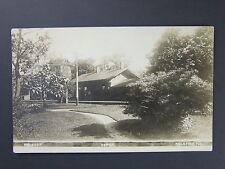 Palatine Illinois IL Railroad Train Depot Station Real Photo Postcard RPPC c1910