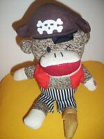 Gemmy Animated Pirate Sock Monkey Plush Singing Flo Rida Club Can't Handle Me