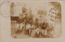 #MILITARI: 38° FANTERIA 1° BTG- 1902- fotocart. DI GRUPPO DI SOLDATI E UFFICIALI