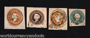 INDIA USED IN BURMA 1896-1908 QUEEN VICTORIA MYANMAR ENVELOPE COLLECTION 4 PCS