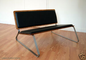 Ply-Bak Love Seat Eames inspired Mid Century Style new