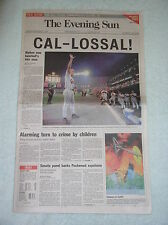 Cal Ripken Breaks + Ends Playing Streak Records -- Original Baltimore newspaper