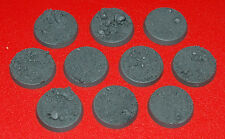25mm Round Rough Ground Resin Bases (10) Player Created