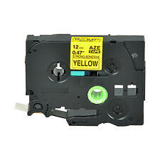 Extra Adhesive Black on Yellow Label Tape For Brother TZ-S631 TZe-S631 12MM