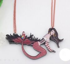 Mermaid Acrylic Necklace Sexy Siren Sailor Pirate Girl Unique Gift
