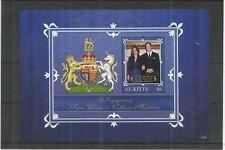 ST KITTS 2011 ROYAL ENGAGEMENT MINISHEET SG,MS1040 U/M N/H LOT 1314B
