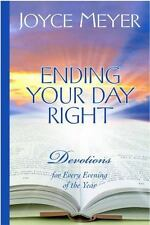 Ending Your Day Right a Christian Hardcover book by Joyce Meyer Daily Devotions