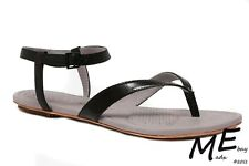 New Tsubo BELLAH Leather Women Sandals Size 7.5 blk