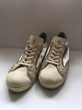 4US CESARE PACIOTTI Womens Sneakers Shoes Beige Size 39 Uk 6