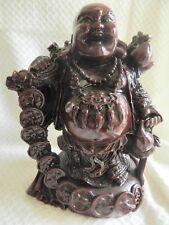 """7.0"""" Tall Chinese Style Happy Giant Laughing Buddha Statue Brown/red"""