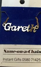 Gareth  - 1980s Name on a Chain Necklace
