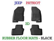 To suit Jeep Patriot  2013-2017 Black Rubber 3D Moulded Floor Mats