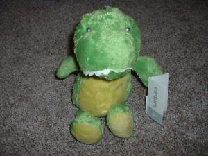 "Carter's Plush Dinosaur Baby Boys Toy Green Infant Lovey 11"" 2016 RARE NWT"