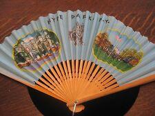 Vintage Hyde Park New York NY Paper Fan Japan Fala Scotty Dog
