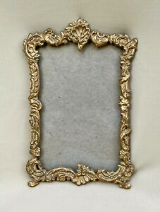 Antique Fancy Victorian Gilt Brass Frame with Glass  Royal Manufacturing Co.