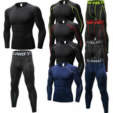 Men's Compression Athletic Long Tights Basketball Stretch Base Layers Sportswear