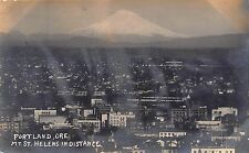OR - 1910's RARE! REAL PHOTO Mt. St. Helens in distance in Portland, Oregon