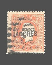 VINTAGE:AZORES-PORTUGAL 1868 USD LH  SCOTT 12  $150 LOT #1868X51