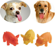 Pet Puppy Supplies Chew Squeaker Squeaky Rubber Sound Pig For Dog Toys Play