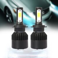 S2 H7 Car LED Headlight Bulbs 12V 6500K 72W 8000LM COB LED Headlamp Fog Lig J1U9