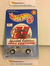 1963 Corvette w/ Real Riders * Corvette Central * Hot Wheels * A18