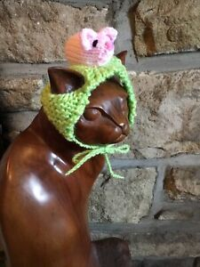 Hand Knitted Pink Mouse Hat For Your Cat/small Dog ,New