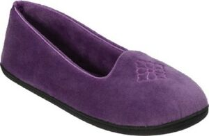 Dearfoams Smokey Purple Microfiber Velour Indoor/Outdoor Memory Slippers
