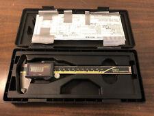 "MITUTOYO Digimatic 0-6"" Digital Solar Absolute Caliper 500-464 + Case Paperwork"