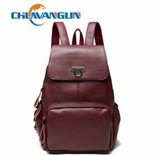 fashion genuine Leather backpack women casual Urban travel bags Wild school bag