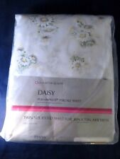 Vintage Sears Perma-Prest Percale Daisy Twin Fitted Sheet - Unopened