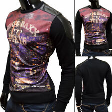 Cotton Blend Crew Neck Slim Casual Other Tops for Men