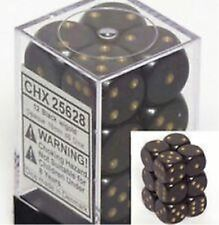 Chessex Dice d6 Sets:Opaque Black with Gold-16mm Six Sided Die CHX 25628