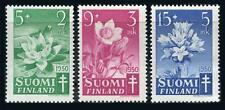 Finland: 1950 Flowers Semipostals (B101-B103) Mint