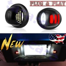 For Ford F-150 F-250 F-350 2001-2014 Red Neon Tube LED License Plate Light Lamp