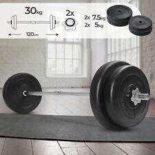 Langhantel Set 30 kg Langhantelstange mit Hantelscheiben Hantelset Gewichte