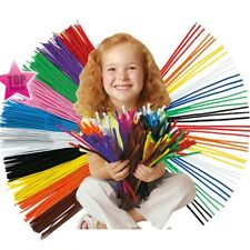 100x Mixed Colours Chenille Sticks Pipe Cleaners Assorted Colours Craft Toy UK