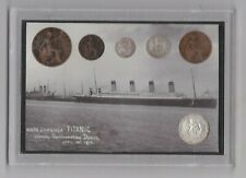 CASED 1912 TITANIC SIX COIN SET IN A USED CONDITION