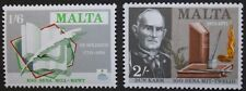Literary anniversaries stamps, Malta, 1971, SG ref: 447 & 448, 2 stamp set, MNH
