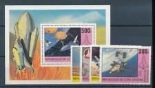 158242) Elfenbeinküste Nr.680-3+Bl.17** Raumfahrt