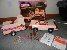 1982 BARBIE TRAVELIN' TRAILER OFF ROAD VEHICLE & HORSE TRAILER COMPLETE IN BOX