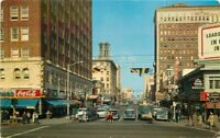Autos Coca Cola Pine Crocker Golden West Long Beach California Postcard 21-124