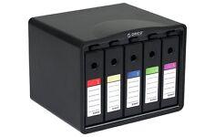 Sisun PHB35-5 5-Bay 3.5 Hard Drive Carrying Case Hard Disk Drive Protection Box