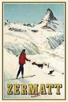 Zermatt Suisse Schweiz Switzerland Blechschild Schild Metal Tin Sign 20 x 30 cm