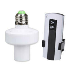 E27 Screw Wireless Remote Control Light Lamp Bulb Holder Cap Socket Switch N