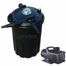 New 4000Gal Pond Pressured Filter 24W Uv Bio-Filter + 2000Gph Pond Water Pump