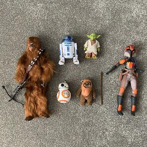 Disney Star Wars Forces Of Destiny Action Figure Doll Bundle Chewbacca Yoda Ewok