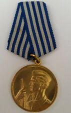 Jugoslawien Medaille ZA Hrabrost Verdienstmedaille Tito Ära Gold Orden am Band